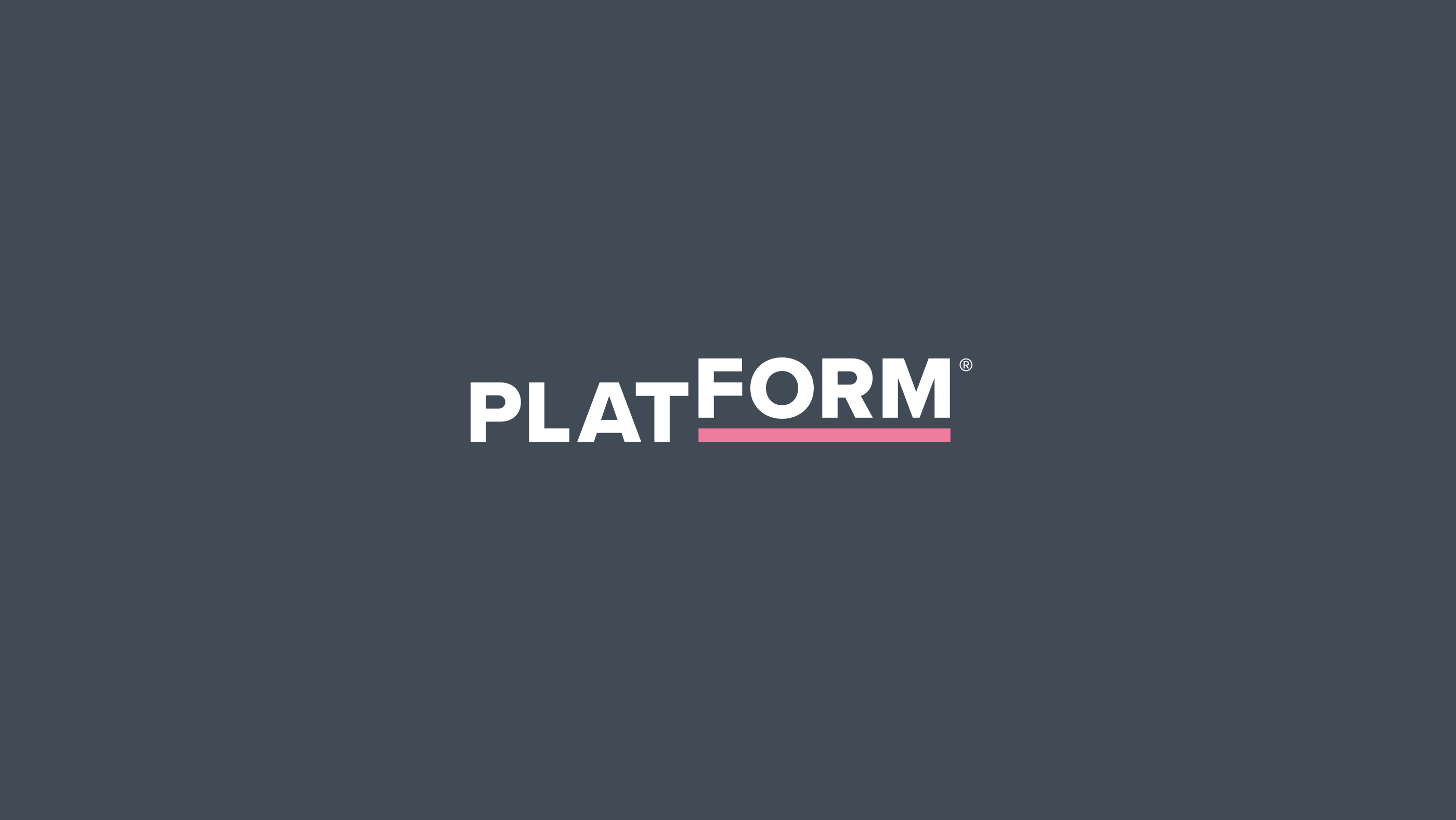 The Westminster School Platform brand identity, white text on grey background with pink underline